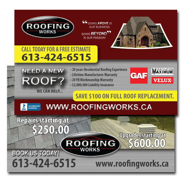Roofing Works Postcards