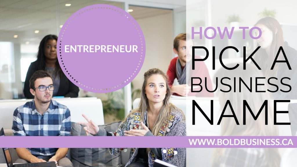 How To Pick a Business Name