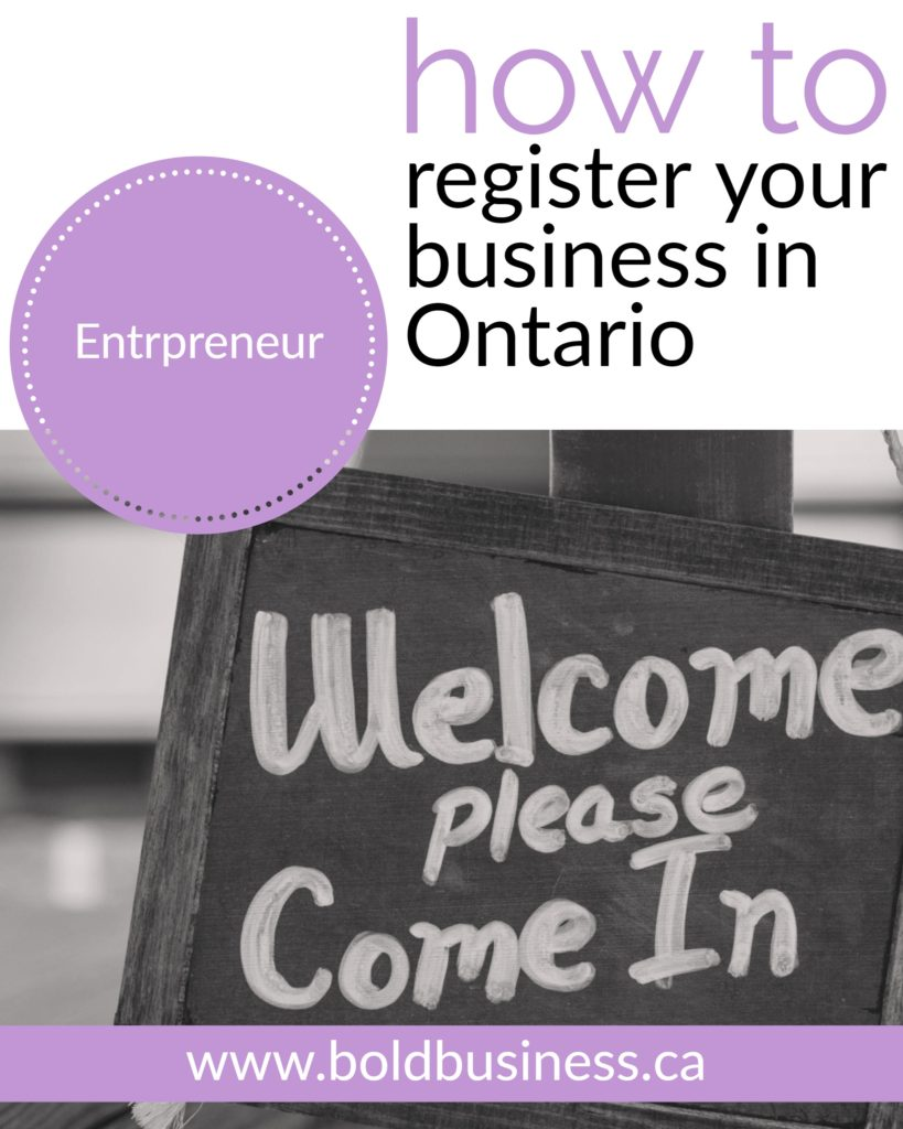How to register your business in Ontario
