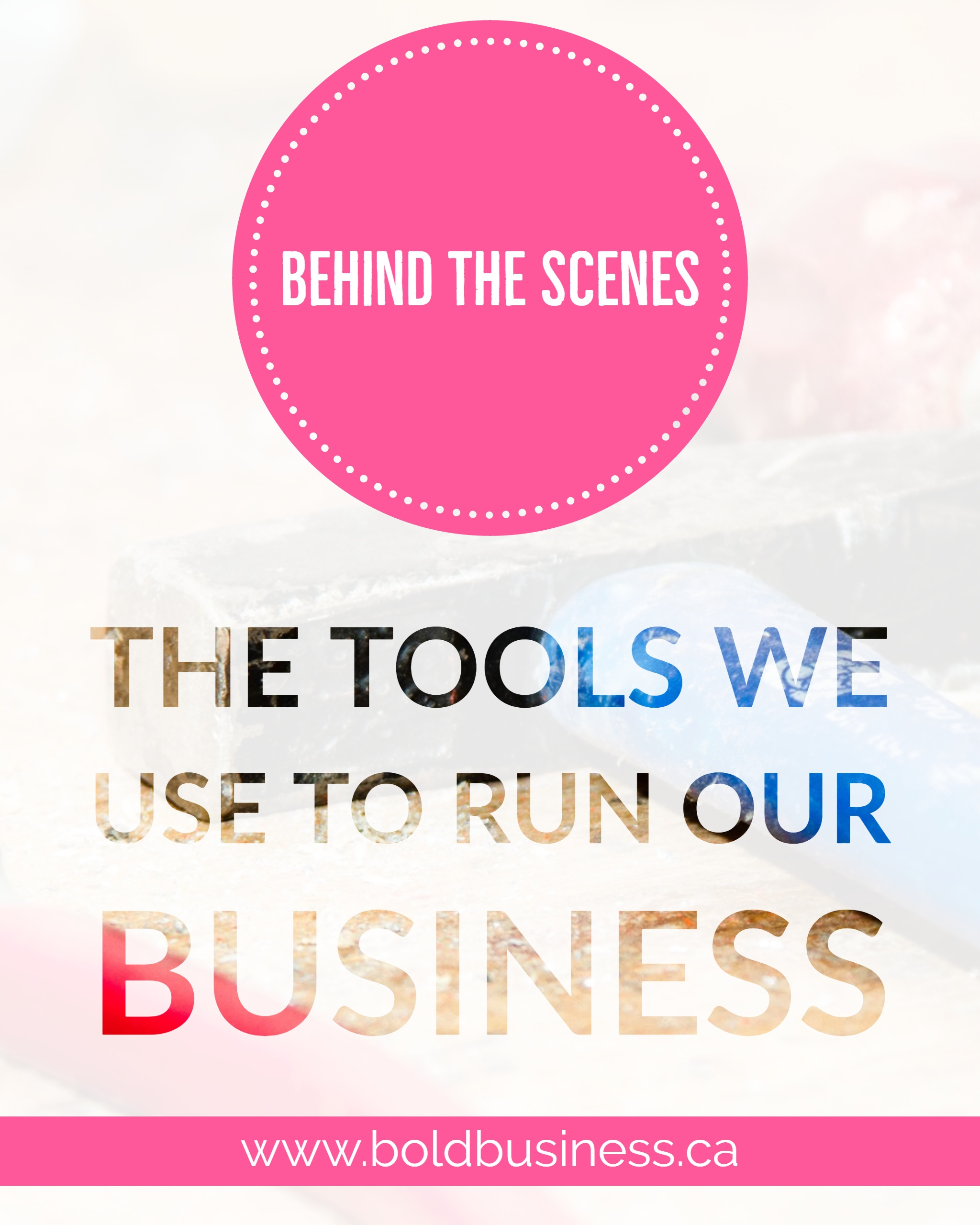 Tools We Use to Run Our Business